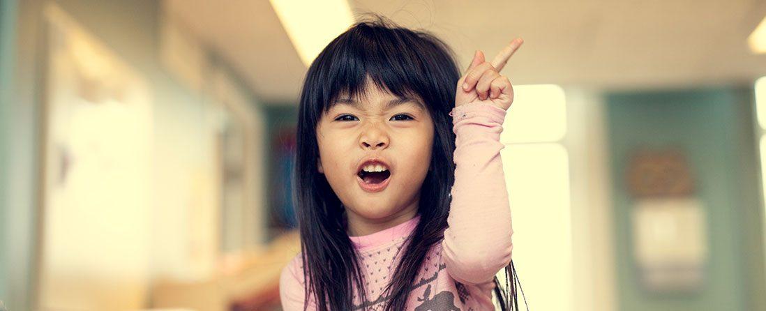 Jente i barnehagen