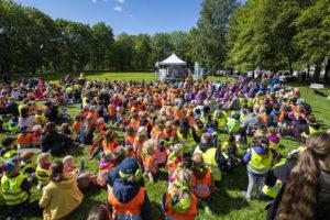 Barnehagebarn samlet til kulturfestival i Frognerparken